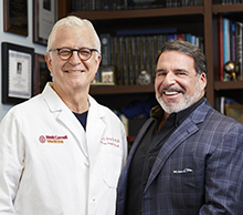 Dr. Philip Stieg and Dr. Robert Hariri
