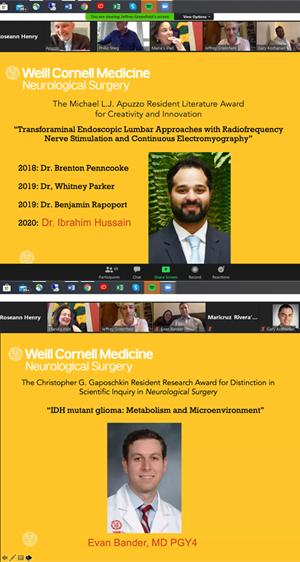 Dr. Hussain Wins 2020 Apuzzo Award; Dr. Bander Takes Gaposchkin Research Award