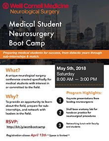 Weill Cornell Medical Student Neurosurgery Event Emails