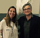 Dr. Maria Santos with Dr. Roger Hartl
