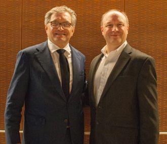 Dr. Roger Hartl and Dr. Larry Bonassar