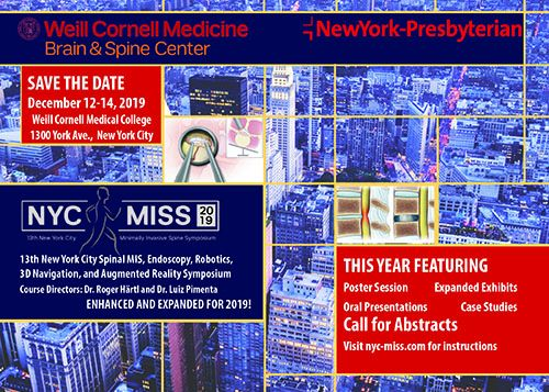 NYC-MISS - New York City Minimally Invasive Spine Surgery CME